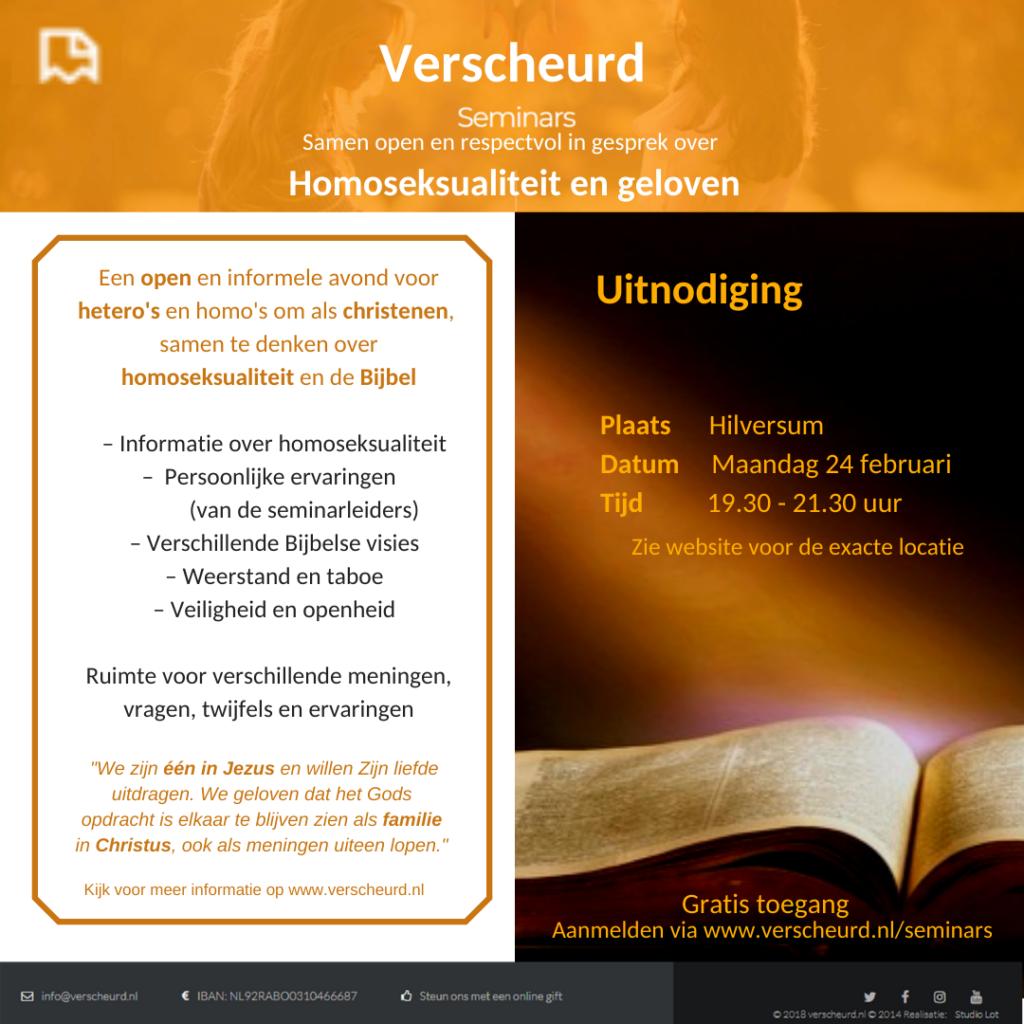 24 februari komt Verscheurd naar Hilversum!
